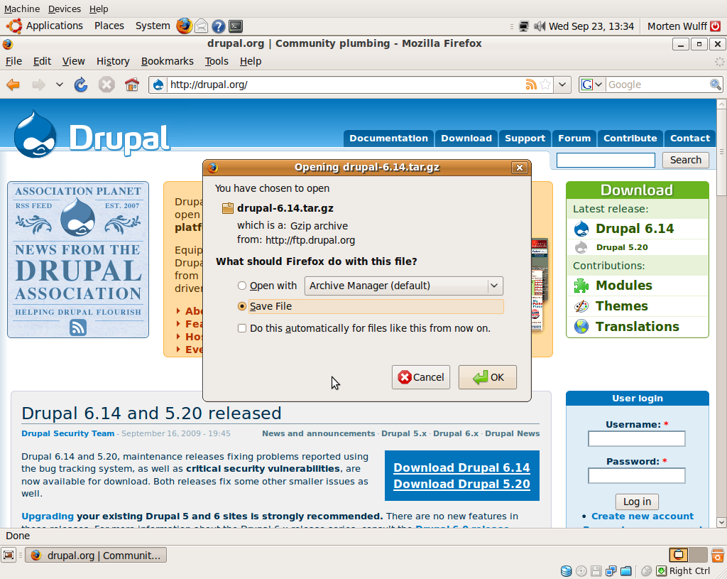 Drupal: Download